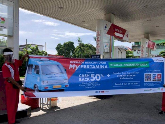 Pertamina Berikan Promo Cashback 50% untuk Sopir Angkot Seluruh Indonesia