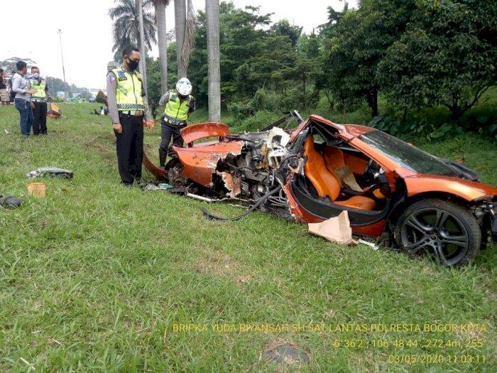 Polisi Ungkap Kronologi Kecelakaan Mobil Supercar McLaren di Tol Jagorawi