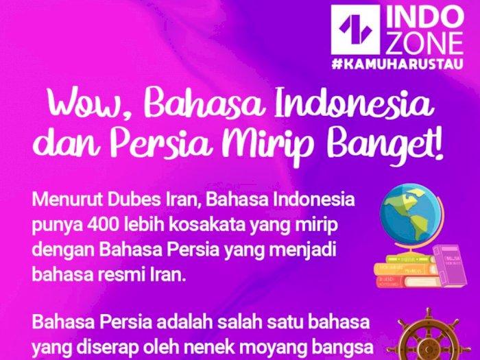 Wow Bahasa Indonesia dan Persia Mirip Banget!