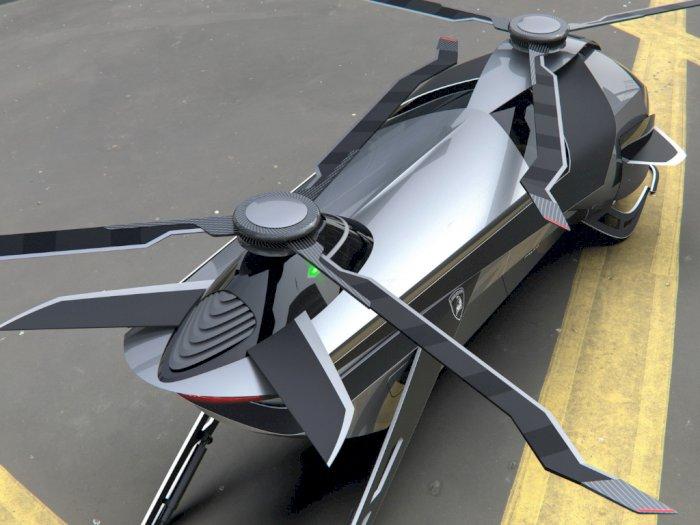Gokil! Lamborghini Kembangkan Helikopter untuk Taksi Udara