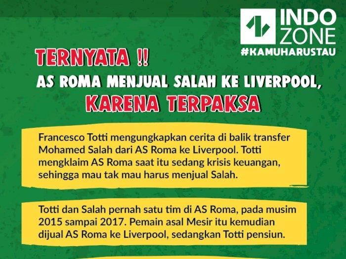 Ternyata!!  As Roma Menjual Salah ke Liverpool Karena Terpaksa