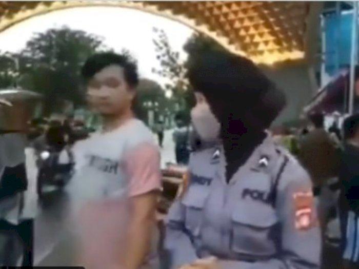 Viral Video Polwan Nggak Sengaja Tatap-tatapan dengan Seorang Pria, Netizen Heboh