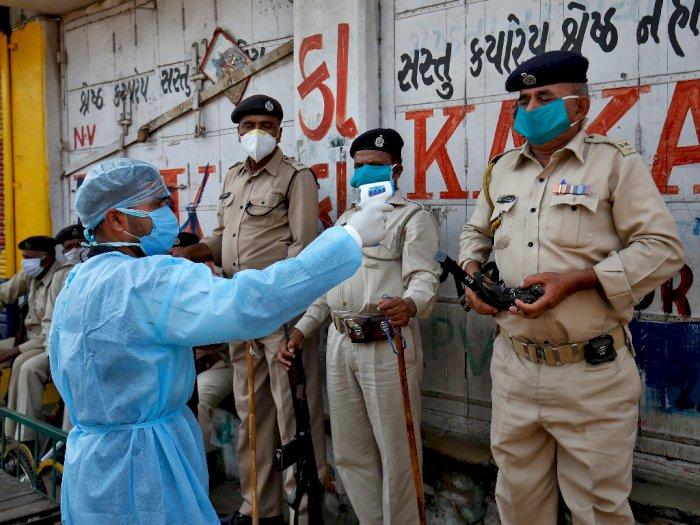 Ratusan Polisi di India Positif Terpapar Virus Corona, 4 Orang Meninggal Dunia
