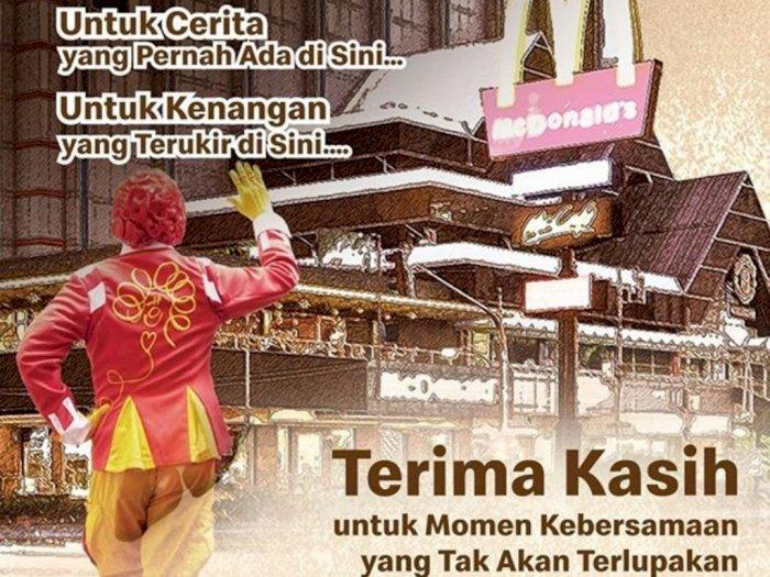 Gerai McDonald's Pertama di Indonesia akan Ditutup