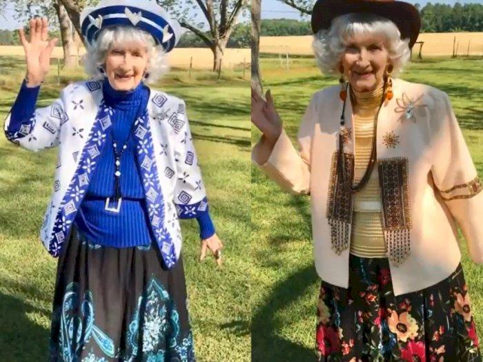Di Rumah Aja dan Bikin Fashion Show, Nenek 91 Tahun Ini Jadi Sensasi di YouTube