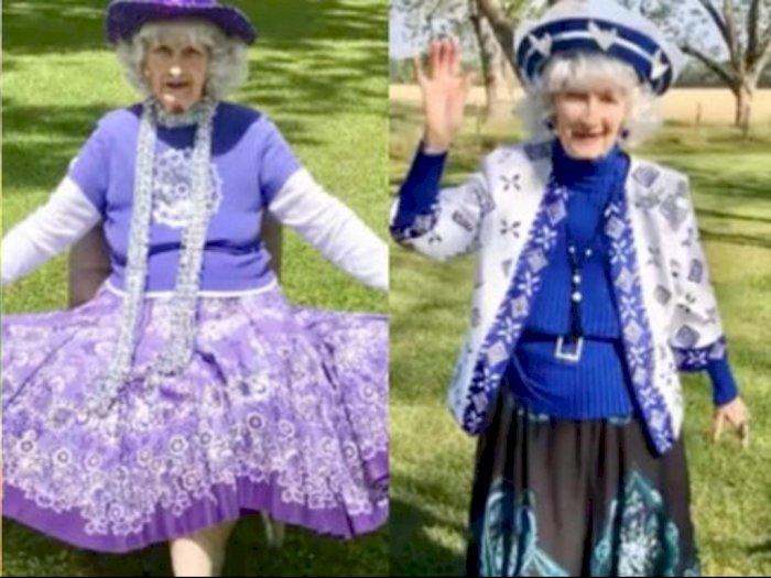 Nenek 91 Tahun Gelar Fashion Show di Halaman Belakang Rumah, Gayanya Bikin Takjub