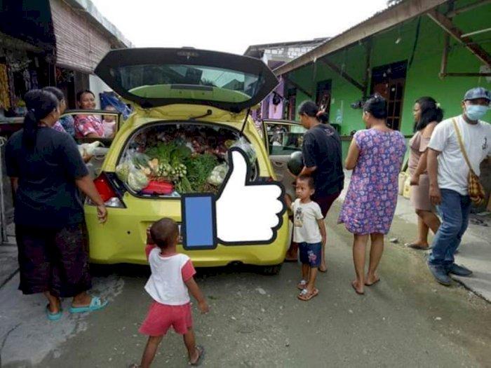 Di Papua, Honda Brio Malah Dijadikan 'Gerobak' Dagang Sayur