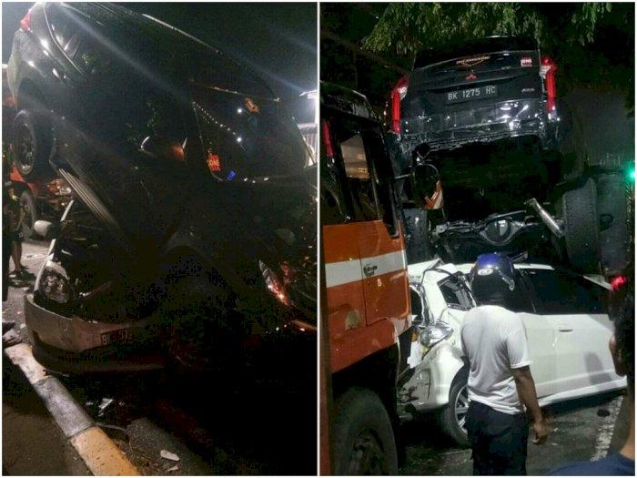 Tabrakan Beruntun yang Terjadi di Ring Road Medan Dikarenakan Rem Blong