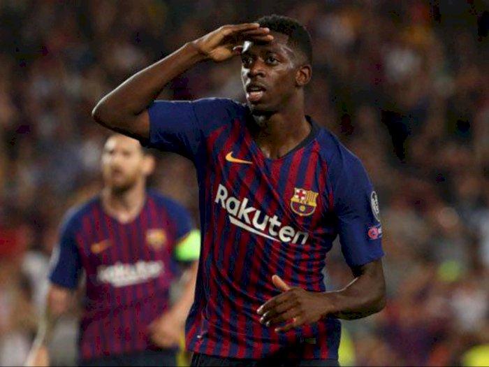 Cedera, Dembele Bakal Lanjutkan Pemulihan di Fasilitas Latihan Barcelona