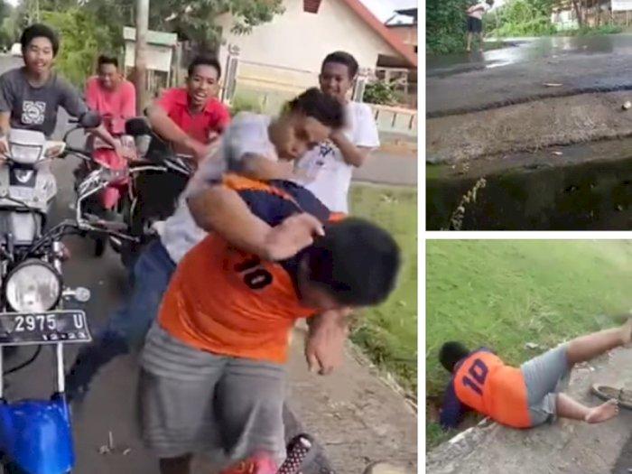 Bocah Penjual Gorengan Di-Bully Ramai-Ramai oleh Kelompok Pemuda, Netizen: Tak Punya Hati