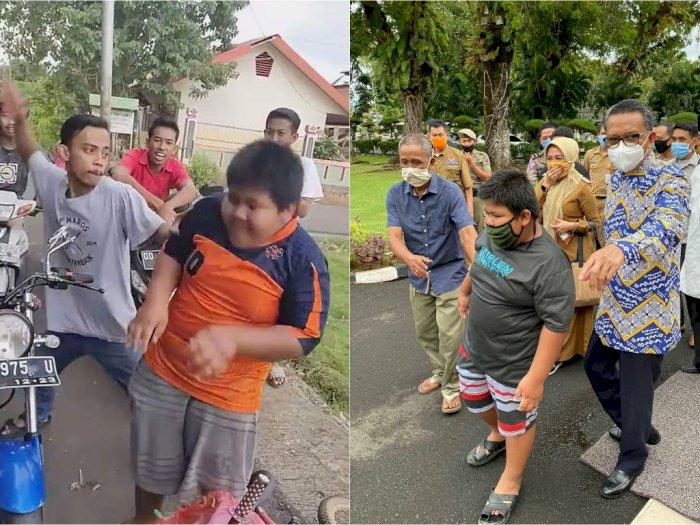 Akhir Bahagia Rizal Korban Bullying, Kini Diberi Banyak Bantuan dari Sembako hingga Motor