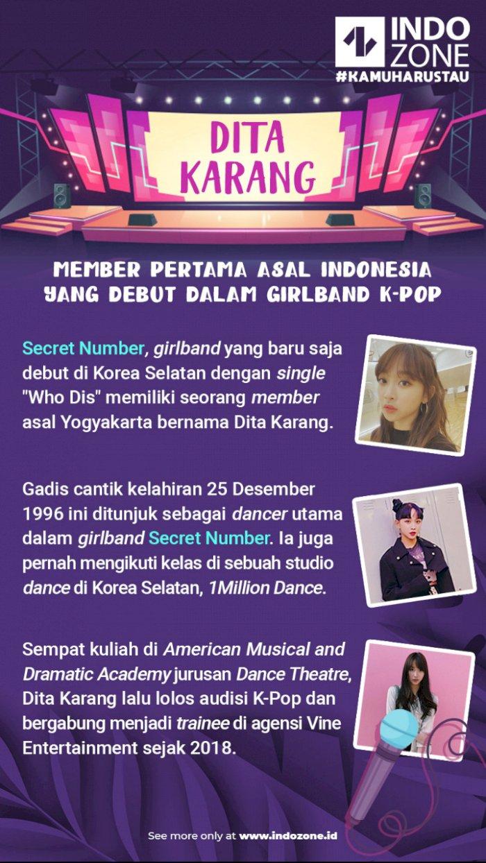 Dita Karang, Member Pertama Asal Indonesia Debut Dalam Girlband K-Pop