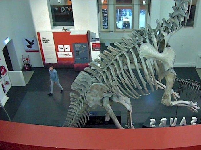 Pria Ini Nekat Terobos Museum yang Ditutup, Ternyata Cuma Mau Selfie dengan Dinosaurus