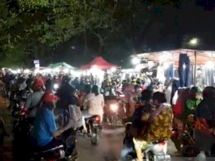 Sedang PSBB Covid-19, Pasar Malam BKT Jakarta Timur Kembali 'Diserbu' Warga