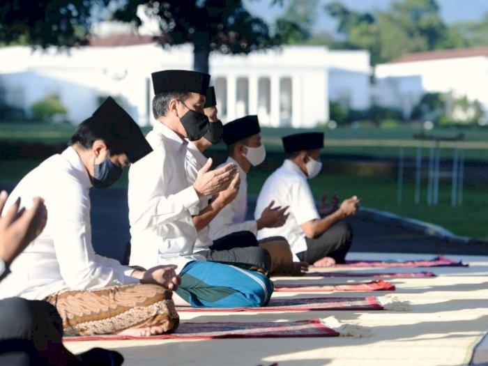 FOTO: Presiden Jokowi Salat Idul Fitri di Istana Bogor