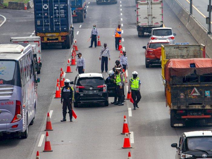 Polda Jabar Sekat Arus Lalu Lintas ke Jakarta