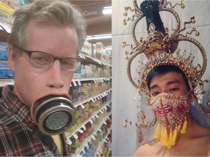 Kocak! Orang-orang Ini Bikin Kreasi Masker Unik untuk Atasi Virus Corona