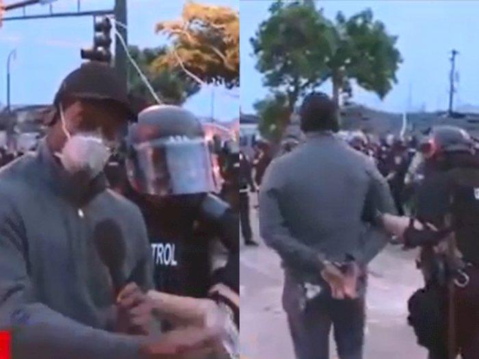 Ditangkap saat Liput Demonstrasi George Floyd, Jurnalis  Ini Ungkap Perlakuan Polisi