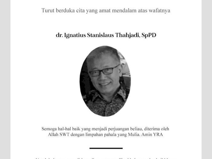 Dokter Ignatius Stanislaus Tjahjadi Gugur Akibat Covid-19, IDI Kembali Berduka