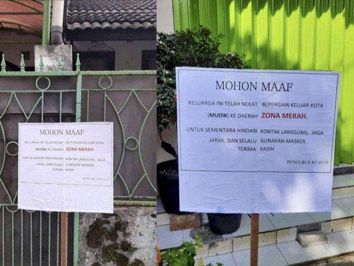 Pak RT Pasang Teguran ke Warganya yang Nekat Mudik ke Zona Merah, Netizen: Patut Ditiru!