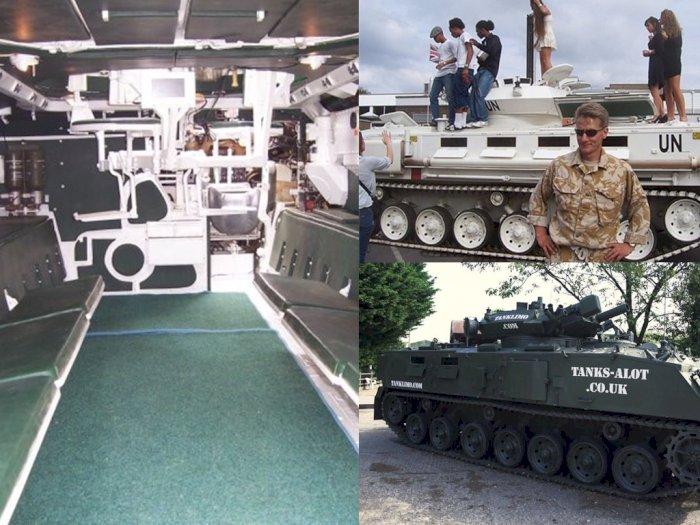 Wih! Tank Ini Bersifat Legal Melaju di Jalan Raya Hingga Dapat Disewa untuk Rayakan Pesta