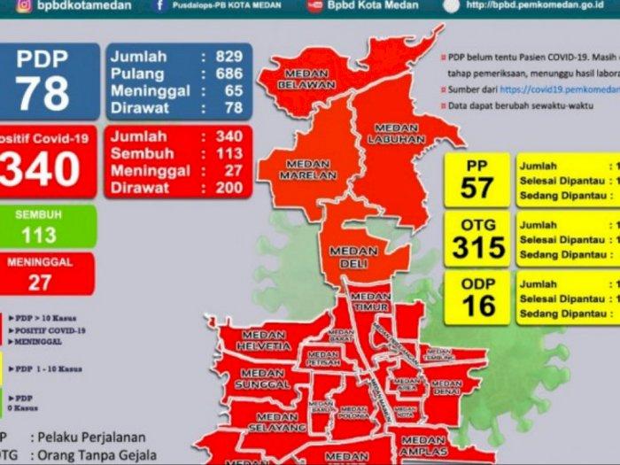 21 Kecamatan di Kota Medan Masuk Zona Merah Covid-19, Ini Daftarnya