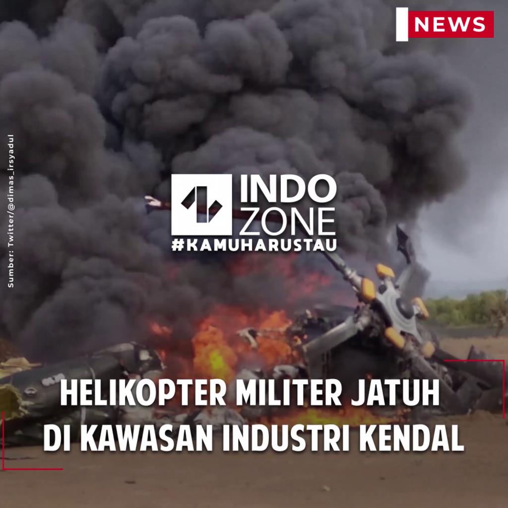 Helikopter Militer Jatuh di Kawasan Industri Kendal