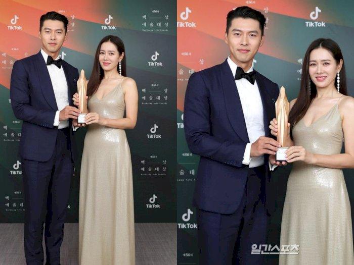 Tampil Serasi di Baeksang Arts Awards 2020, Hyun Bin dan Son Ye Jin Curi Perhatian Netizen