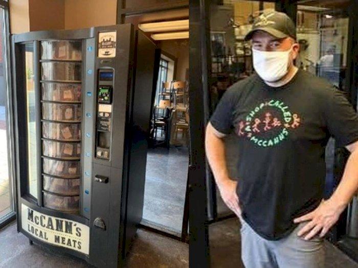 Di Tengah Pandemi, Toko Ini Jual Daging Pakai Vending Machine, Dagangannya Laris Manis