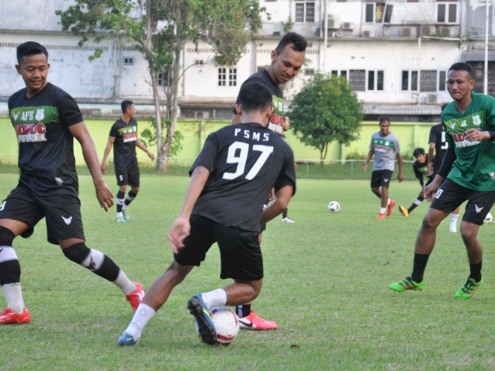 FOTO: PSMS Medan Gelar Latihan Perdana di Tengah Pandemi Covid-19