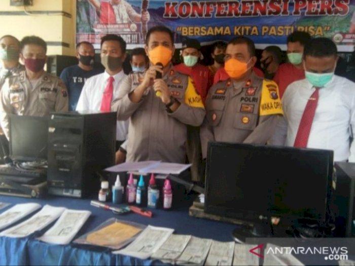 Polres Tanjungbalai Berhasil Ringkus 8 Tersangka Sindikat Pemalsuan STNK