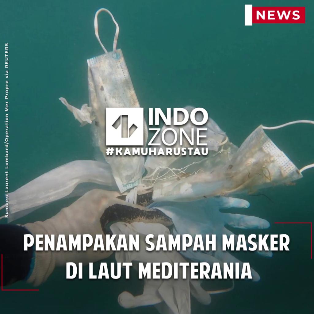 Penampakan Sampah Masker di Laut Mediterania