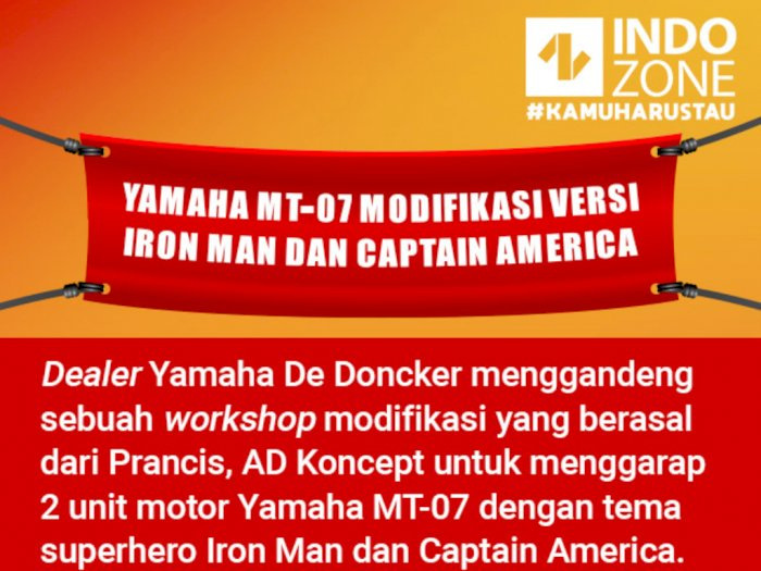 Yamaha MT-07 Modifikasi Versi Iron Man dan Captain America
