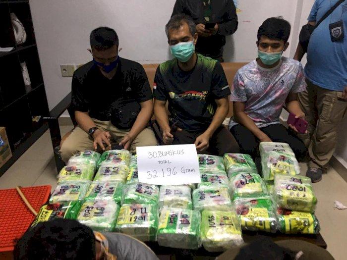 32 Kg Sabu-sabu Kemasan Teh Cina Diamankan Petugas Bea Cukai Dumai, 2 Pelaku Ditangkap