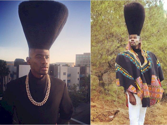 Wow! Pria California Ini Pecahkan Rekor Rambut Tertinggi di Dunia