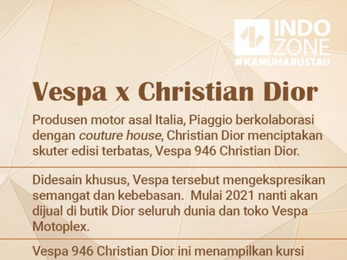 Vespa X Christian Dior