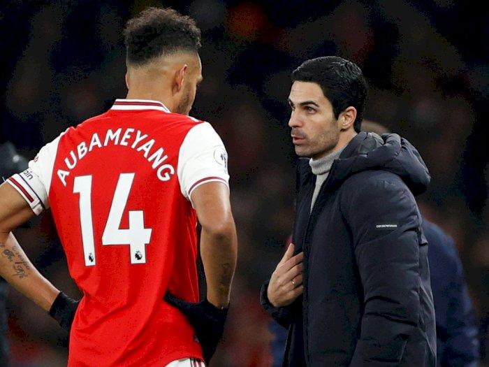 Arteta Pastikan Aubameyang Tetap Bertahan di Arsenal