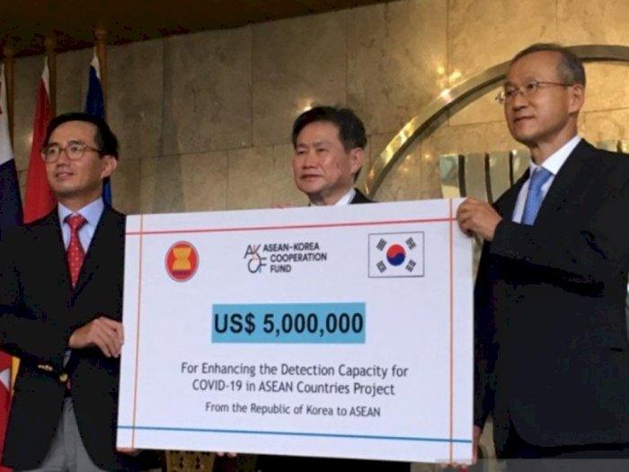 Bantu Demi Tangani Covid-19, Korsel Kucurkan Dana Rp70 M untuk ASEAN