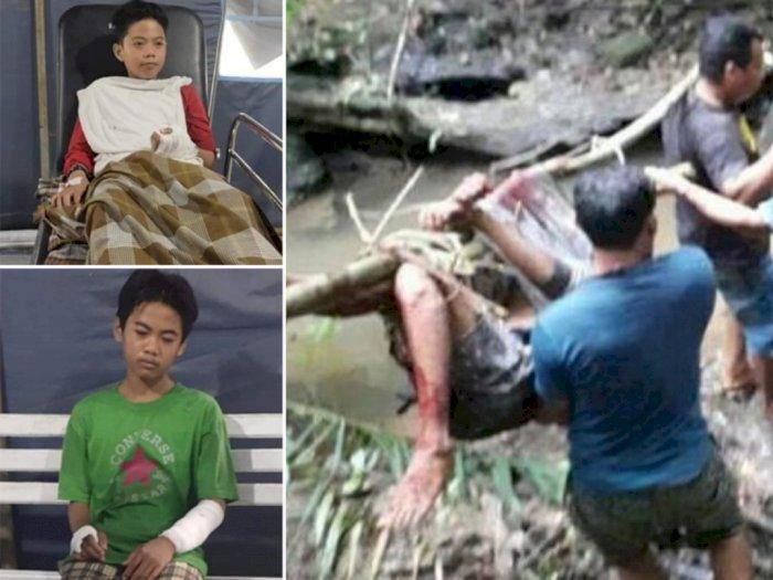 Kesaksian Teman Alfian Pelajar SMP yang Tewas Dimangsa Ular Piton 7 Meter: Leher Dibelit