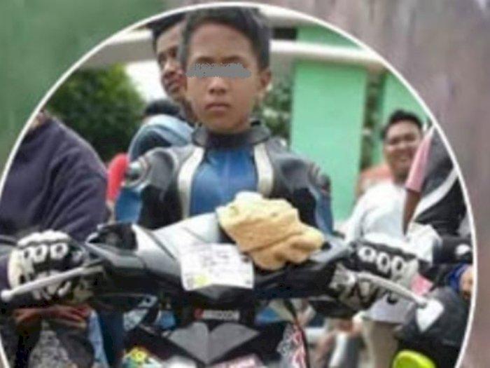 Detik-Detik Remaja SMP Tewas Balap Liar di Siantar, Terkapar di Jalan Usai Menabrak Pohon