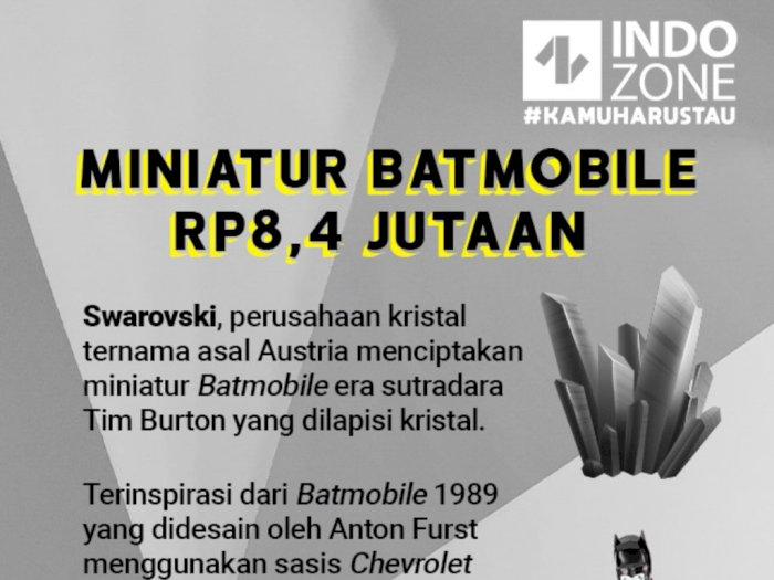 Miniatur Batmobile Harga Rp8,4 Jutaan