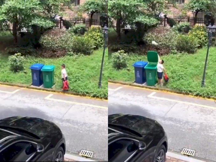 Bocah Ini Buang Sampah Pakai Cara Anti Mainstream Bikin Netizen Takjub