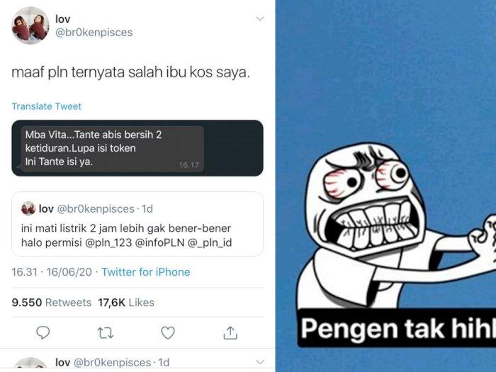 Kocak! Netizen Ini Protes Soal Mati Listrik ke PLN, Nggak Taunya Belum Isi Token Listrik