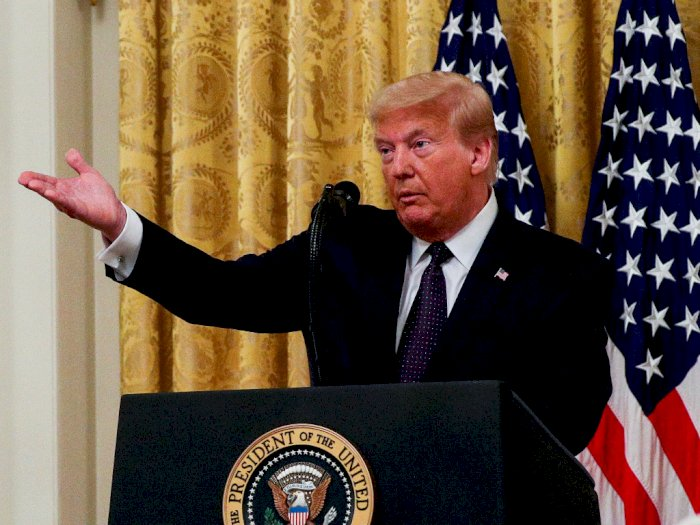 Meski Kasus Covid-19 Terus Melonjak di AS, Donald Trump Tak Akan Terapkan Lockdown Lagi