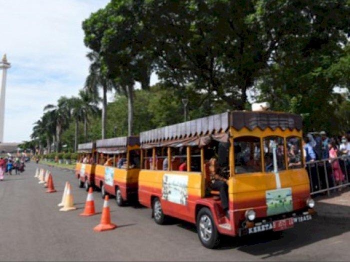 Selama Masa PSBB Transisi, Layanan Mobil Wisata Monas Diberhentikan