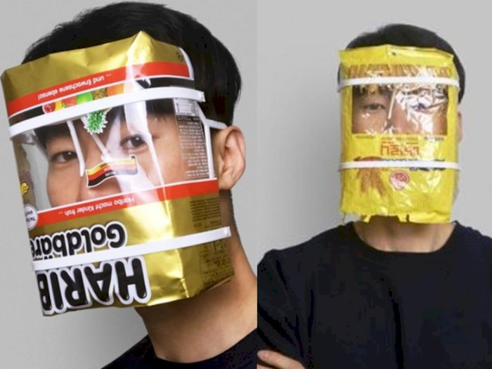 Kreatif! Ada Face Shield yang Terbuat Dari Daur Ulang Kemasan Makanan