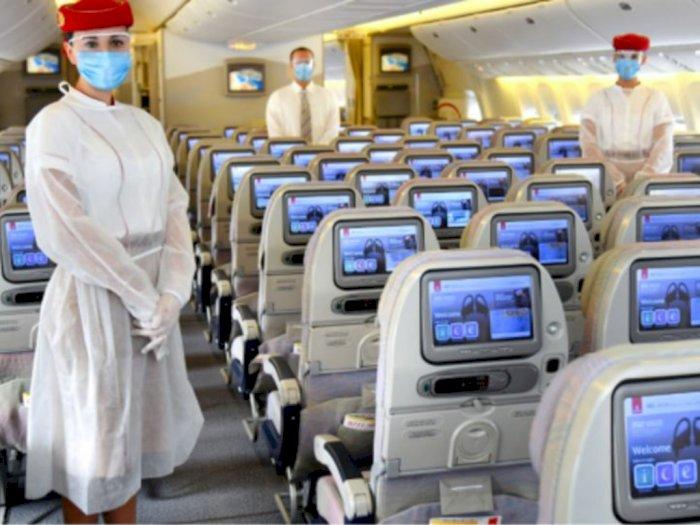 Aturan Jaga Jarak dalam Pesawat Hanya Ada di Indonesia