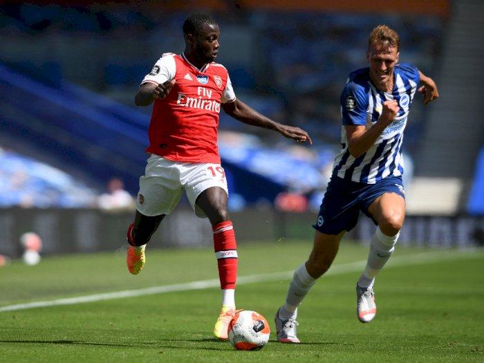 Babak I, Brighton & Hove Albion VS Arsenal Sama Kuat 0-0