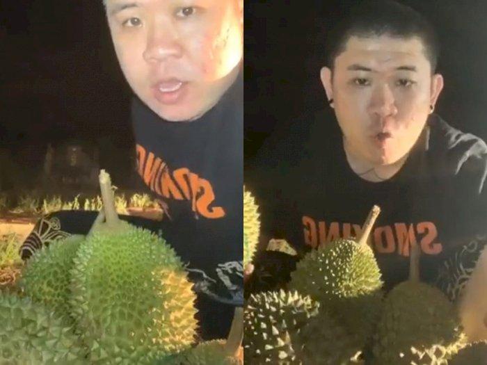 Hii Serem! Seorang Pria di Singapura Lelang Durian Online di Tengah Kuburan