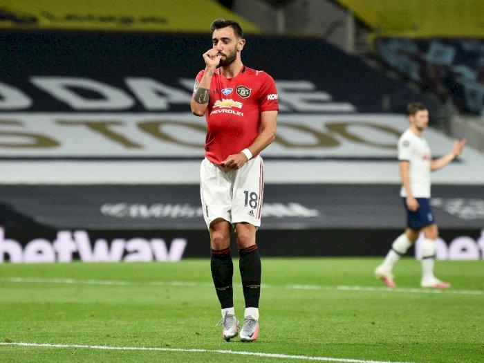 Tottenham VS MU: Penalti Bruno Fernandes Selamatkan The Red Devil dari Kekalahan
